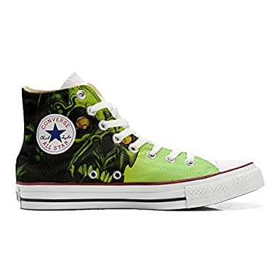 Converse All STar CUSTOMIZED , Sneaker Unisex, printed Italian style skull Horror - size 35 EU