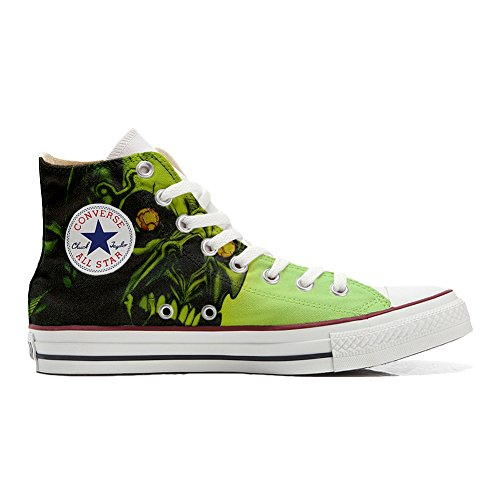 Shoes Custom Converse All Star, personalisierte Schuhe (Handwerk Produkt) Schädel Horror - size EU 38