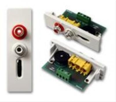 VISION TechConnect Plaque modulaire enclenchable RCA X