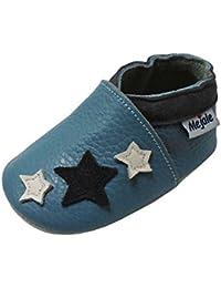 Mejale Chaussons Enfant Bébé en Cuir Doux-Chaussons Cuir Souple-Chaussures Premiers Pas-0 to 36 Mois