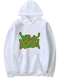 PANOZON Sudadera de Niñas Niños Billie Eilish Abrigo con Capucha Impresión de Logo Mangas Largas Negra Hip Hop