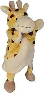 Doudou Babynat Baby'nat girafe marionnette nature BN670 jaune marron