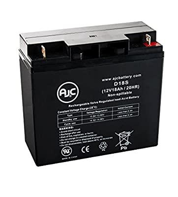 Wheelchair 12 Volt 18 Amp 12V 18Ah Wheelchair Battery - This is an AJC Brand® Replacement