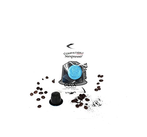 50 Decaffeinated – Nespresso Compatible pods – Nero Puro Caffe – Improved Coffee and pod