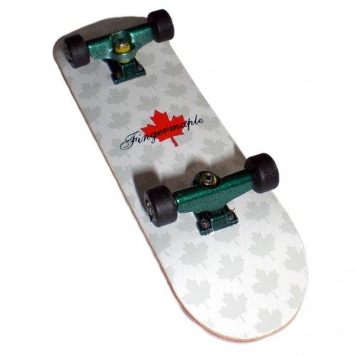 Fingermaple Profi Fingerboard Komplettboard aus Holz Green/Black - Made in USA - Luxury Edition - Absolutes Profi Finger