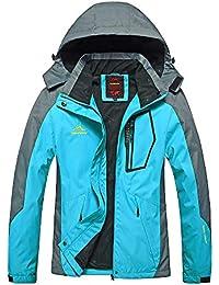 4cee750fd78 Mujer Hombre Al Aire Libre Montaña Impermeable Windbreaker Softshell Esquí  Chaqueta con Capucha Ropa Deportiva Impermeable