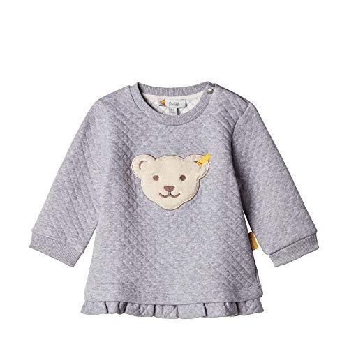 Steiff Baby - Mädchen Sweatshirt , Grau (QUARRY 9007) , 86 (Herstellergröße:86)