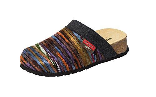 Bio casa scarpe pantofole con Plantare di cuneo Multicolore