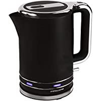 Andrew James Lumiglo Kettle | Electric Cordless Fast Boil Illuminating Jug Kettle | Reusable Filter & Flip Top Lid | Matt Black with Blue LEDs | 3000W