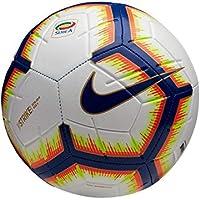 Nike Pallone Strike Serie A, Calcio Unisex – Adulto, Bianco/Bright Mango Royal Blue, 5