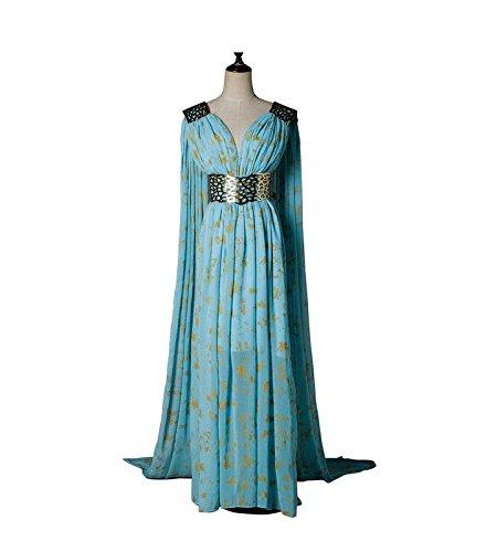 Vivian-Halloween-Costume-Game-of-Thrones-Daenerys-Targaryen-Vestido-azul-Cosplay-DisfrazTamao-M160-165-cm