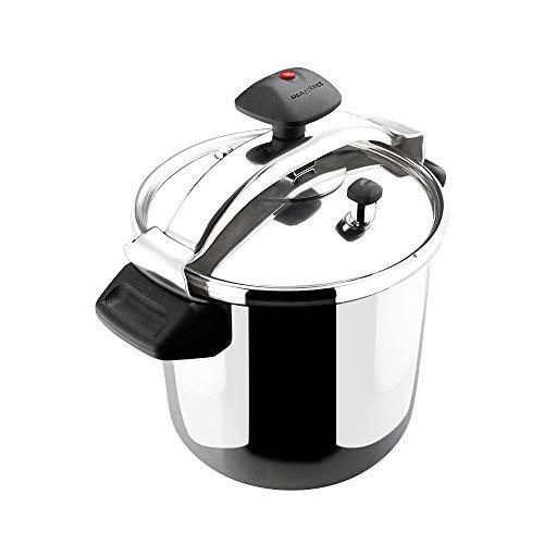 MAGEFESA INOXTAR Olla a presión rápida, acero inoxidable 18/10, apta para todo tipo de cocinas, incluido inducción 6L
