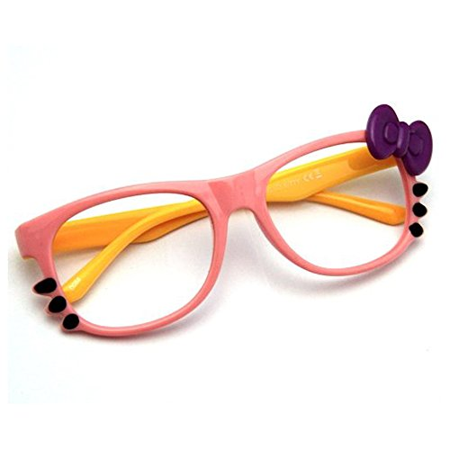 Super Süße Kinderbrille Only 4 Girls Original Oramics Brille Ohne Gläser (Rosa-Yellow)