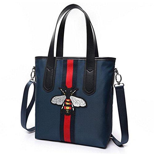 Z&YF Damentaschen Freizeitpaket Handtasche Schultertaschen Biene Gestickt Frau Kuriertasche , blue