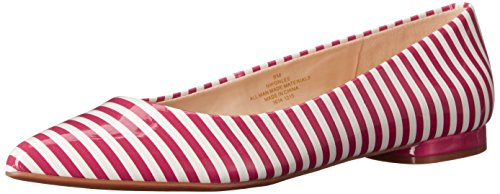 Nine West Onlee Toe Pointy synthétique plat White/Dark Pink Synthetic