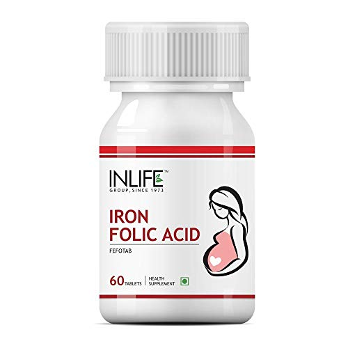Inlife Iron Folic Acid Supplement (60 Tablets)