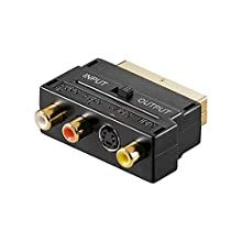 Goobay 50499 Adattatore Audio Video SCART a Composito e S-Video, IN/OUT, Nero