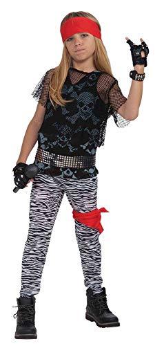 shoperama Rock Star 80er Jahre Jungen Kostüm Kinder Kinderkostüm Rocker Axl Rose Punker, Größe:M - 8 bis 10 Jahre