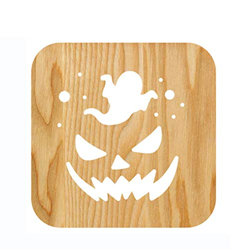 Wenyc usb di forma della zucca di halloween ha condotto la lampada da tavolo creativa leggera romantica semplice