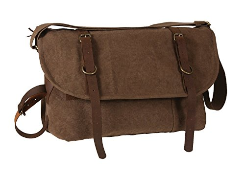 Stile Vintage Rothco Explorer borsa a tracolla w/in pelle Accents