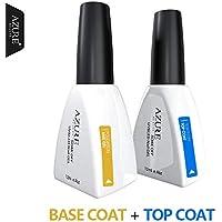 Azure Beauty Brand New Diamond Nail Gel Top Coat Top it off + Base Coat Foundation For UV Gel Polish 12ml Gel Nail…