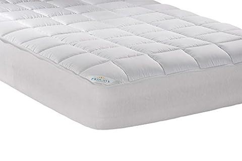 PROCAVE Micro-Comfort Matratzen-Bett-Schoner weiß 60x120 cm mit Spannumrandung   Höhe bis 30cm   Auch für Boxspring-Betten und Wasser-Betten geeignet   Microfaser   100% Polyester   Matratzen-Auflage