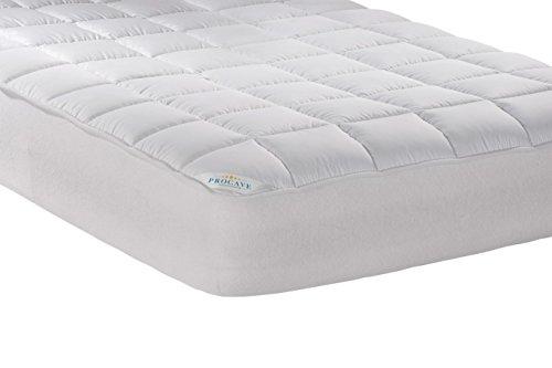 PROCAVE Micro-Comfort Matratzen-Bett-Schoner weiß 140x200 cm mit Spannumrandung | Höhe bis 30cm | Auch für Boxspring-Betten und Wasser-Betten geeignet | Microfaser | 100% Polyester | Matratzen-Auflage