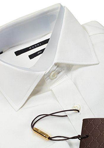 CL-Gucci-Solid-White-French-Cuff-Dress-Shirt-Size-42-165-US-Slim