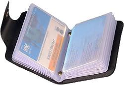 A R Enterprises Leather Black Eagle Buzz Mens Card Holder(12 Slots)