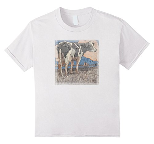 farmer-dairy-cow-retro-distressed-t-shirts-kinder-grosse-140-weiss