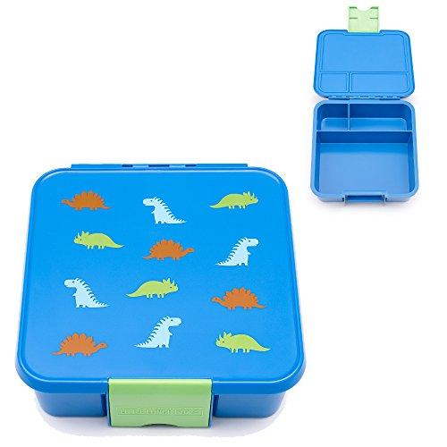 Little Lunch Box Co. Brotdose für Kinder mit Unterteilungen | Bento Box (Bento 3 - Dinosaurier)