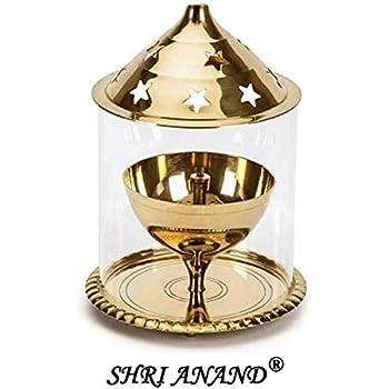 Wacky Brass Golden Akhand Diya Big (10 X 10 X 13 cm)