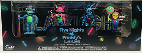 Five Nights at Freddy's Blacklight Action Figures Exclusive Freddy, Foxy, Springtrap, Balloon Boy