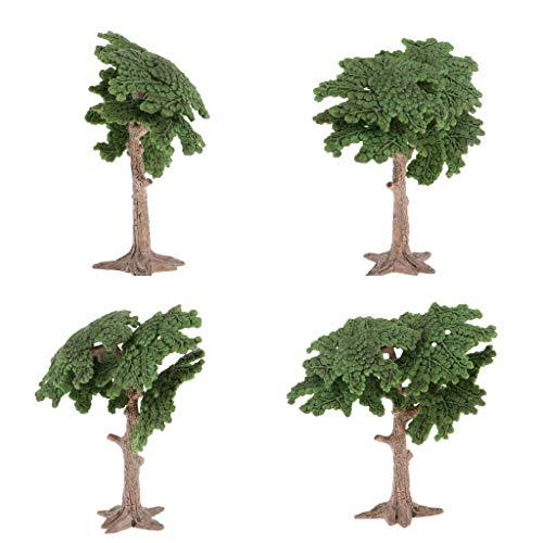 D DOLITY Modelos de Árbol Pino Ciprés Verde 10cm para Modelismo Paisajismo