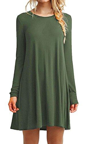 iPretty damen Langarm Casual lose T-Shirt Kleid gefunden bei ... 05c2a9bd61