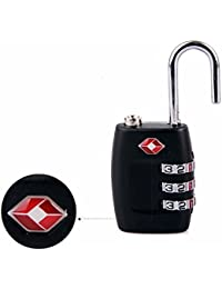 DOCOSS-331-TSA Approved Lock 3 Digit For USA International Number Locks For Luggage Bag Travelling Password Locks...