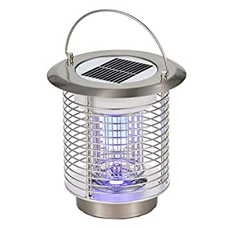GutReise Bug Fly Insect Mosquito Killer Zapper,Solar Electric Indoor Outdoor Garden Modern Flashion LED Light Lamps,Portable Mosquito Killer Lamp Light