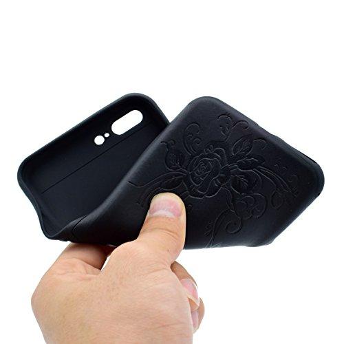 """inShang Hülle für iPhone 6 Plus iPhone 6S Plus 5.5"""" , Ultra Schlank und leicht TPU Bequem Schutzhülle Rückcover (Back Case) design für Handy iPhone 6+ iPhone 6S+ 5.5 inch, Black butterfly flower"""