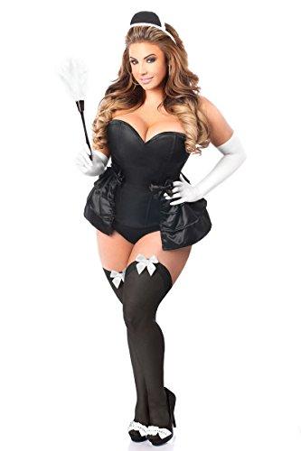Daisy Corsets Gänseblümchen Korsett, Damen, in Übergröße, 5 Stück - Schwarz - 5X (Übergröße Maid Kostüm)