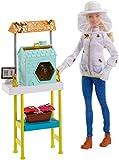 Barbie FRM17 Imkerin Puppe (Blond) und Spielset