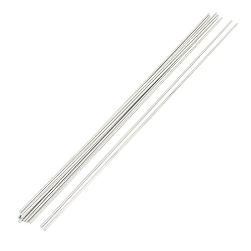 Sourcingmap - 10pcs 350 mm x 2,5 mm de acero inoxidable eje...