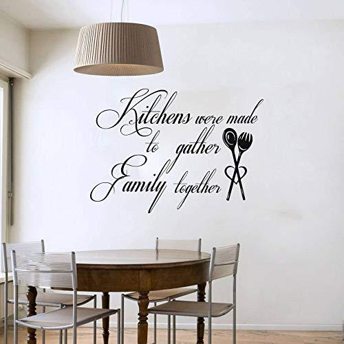Wandaufkleber,Küche Wurden Zu Sammeln Familie Zusammen Kunst Worten Wand Aufkleber Vinyl Wasserdicht Küche Wand Fliesen Aufkleber (Sammeln Wörter)