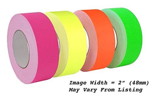 MAT Gaffer Klebeband, Hochglanz, 7,6 cm Klebeband, rückstandsfrei, nicht reflektierend, Besser als Duct Tape (erhältlich in mehreren Farben) leuchtend grün - Nicht Mat