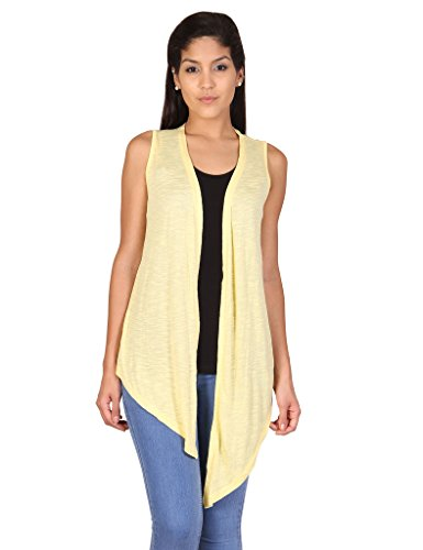 Alibi Women's Shrug (ALSR000027B_L_Yellow_L)  available at amazon for Rs.239
