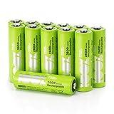 100% PeakPower Akkus AA/Mignon Serie 2600, NiMH Technologie, 12 Stück Akku-Batterien wiederaufladbar ohne Memory-Effekt, 1,2 Volt (1,2V), LSD Technologie, Ready-to-Use