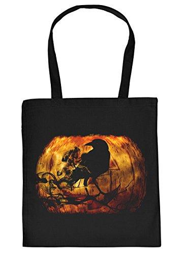 Stofftasche/Einkaustasche/Spaß-Motiv-Tasche Thema Halloween: Halloween Rabe - Geschenkidee
