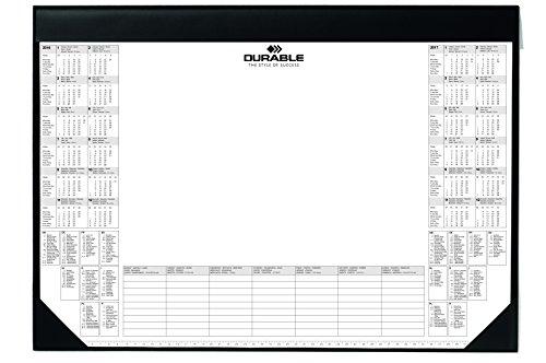 Durable 729101 Schreibunterlage mit Kalenderblock, 25 Blatt, 590 x 420 mm, schwarz