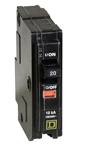 Square D QO120 20-Amp 1-Pole Plug-On Circuit Breaker by Square D