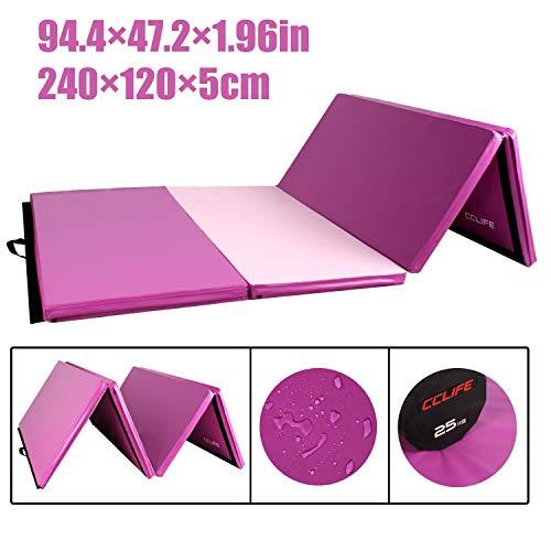 CCLIFE 240x120x5cm Rosa&Lila Weichbodenmatte Turnmatte Klappbar Gymnastikmatte