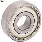 10pcs Rodamientos de bolas, Rodamiento rígido de bolas de acero de 12mm